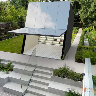 Contemporary modern creative cabin for urban or rural garden room, home office. Music studio use.|Life Space Cabin