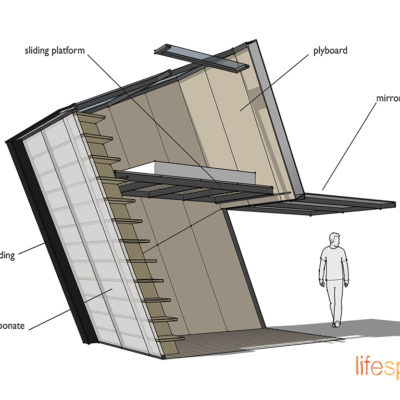Materials for the Skyspace contemporary modern creative cabin for urban or rural garden room, home office. Music studio use.|Life Space Cabin
