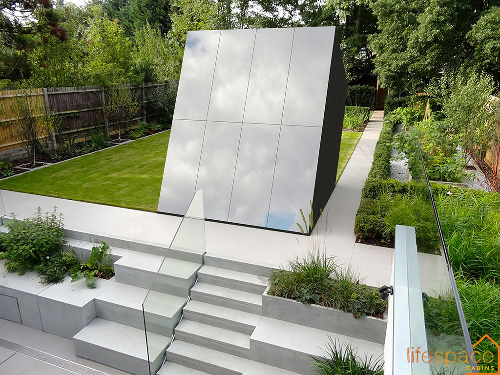 Skyspace Contemporary modern creative cabin with sides reflecting the light |Life Space Cabin