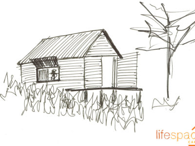 Preliminary sketches for cabin client |Life Space Cabins