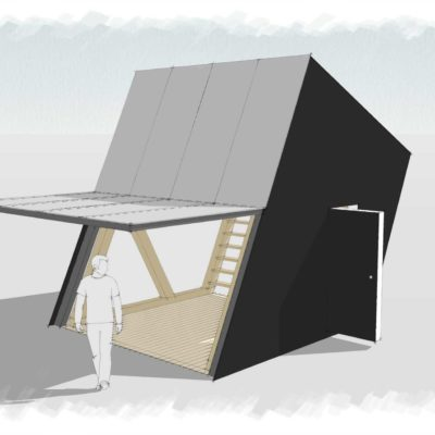Skyspace contemporary modern cabin exterior| Life Space Cabins