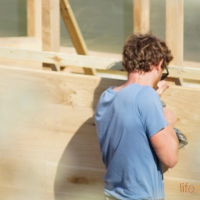 Woodcutters Refuge- Carpentry in progress |Life Space Cabins