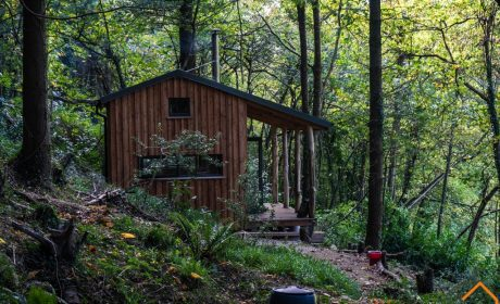 This woodland cabin envelopes the rustic charm and local craftsmanship of a traditionally made foresters cabin of old.