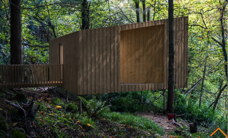 Exmoor Treehouse in Woodland |Life Space Cabins