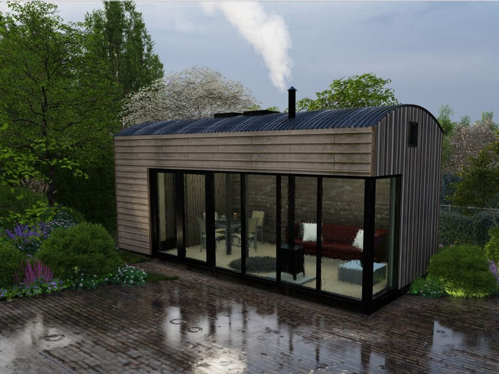 Build a Cabin in your Garden Visualisation by I-Echo_ Life Space Cabins