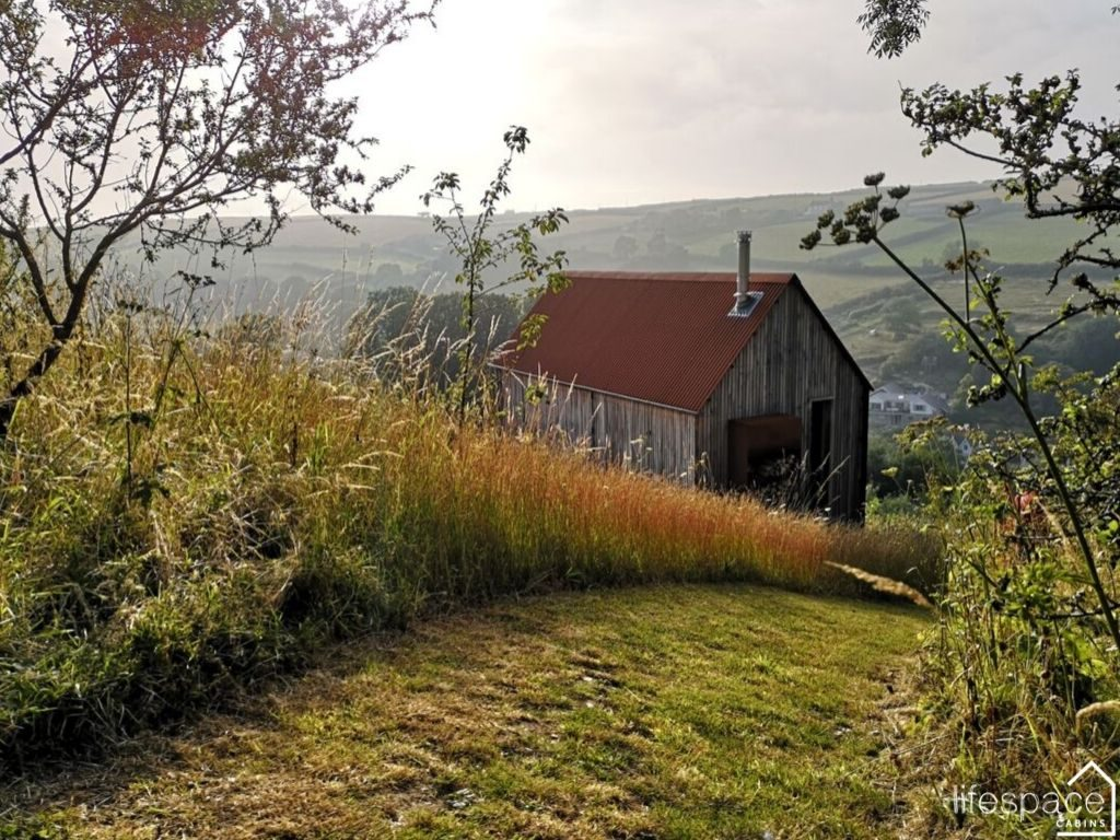 Woodcutters Refuge Devon as featured in Cabin Porn inside built on a hillside _ Life Space Cabins