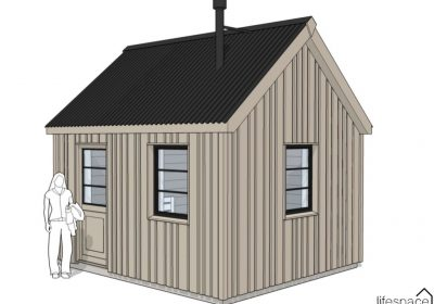 Camping Bedroom - small cottage style Cabin for glampsite or campsite. A cabin designed and made in the westcountry | Life Space Cabins